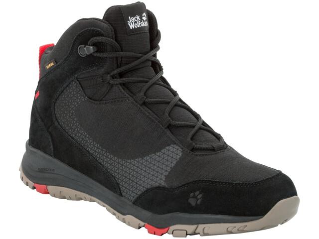 on sale 1090c c500a Jack Wolfskin Activate XT Texapore Mid-Cut Schuhe Herren black/red